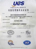 ISO9001(有效期至2014)